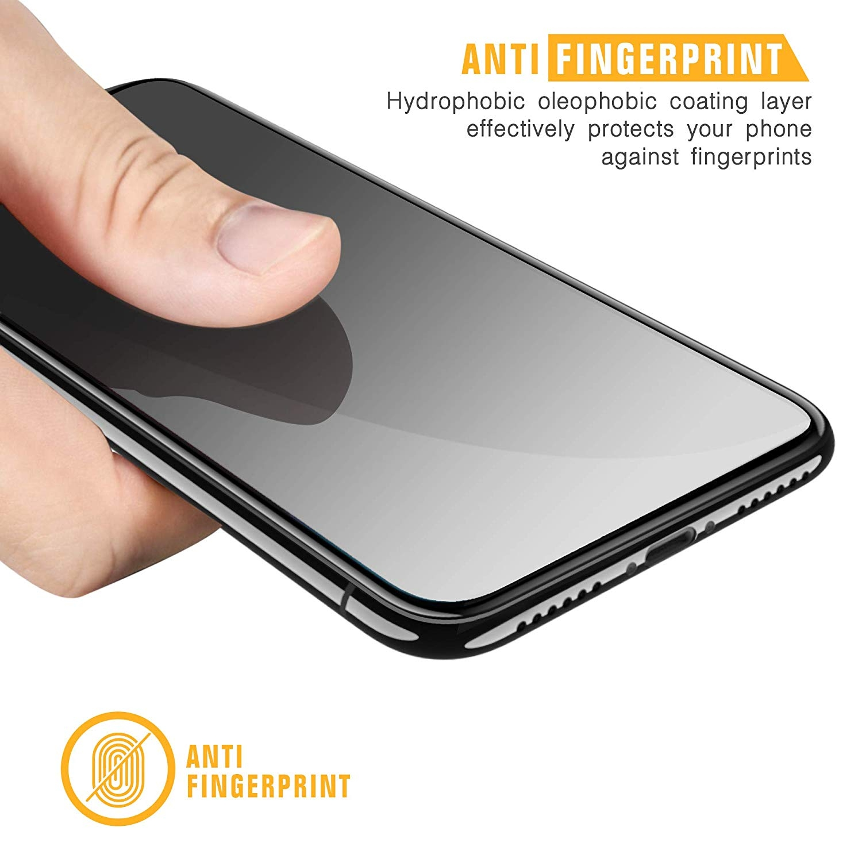 SPARIN iPhone XR Temperli Cam Ekran Koruyucu (Siyah) (2 Adet)