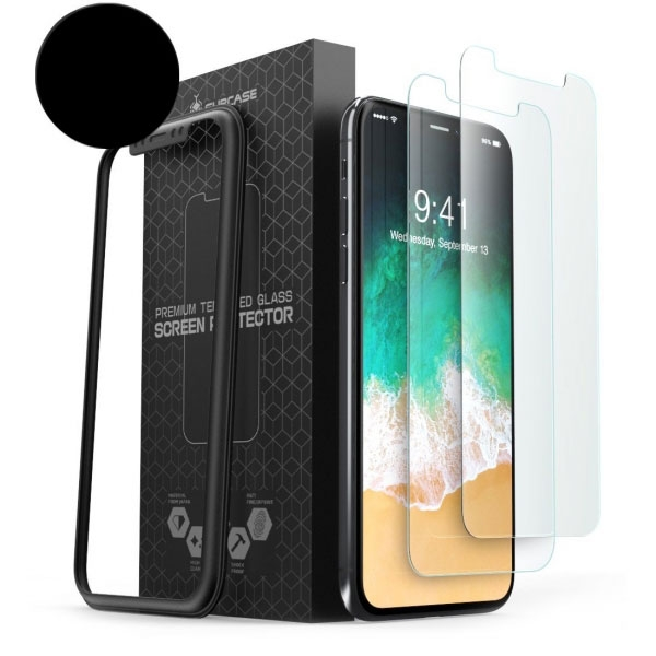 SUPCASE iPhone X HD Temperli Cam Ekran Koruyucu (2 Adet)