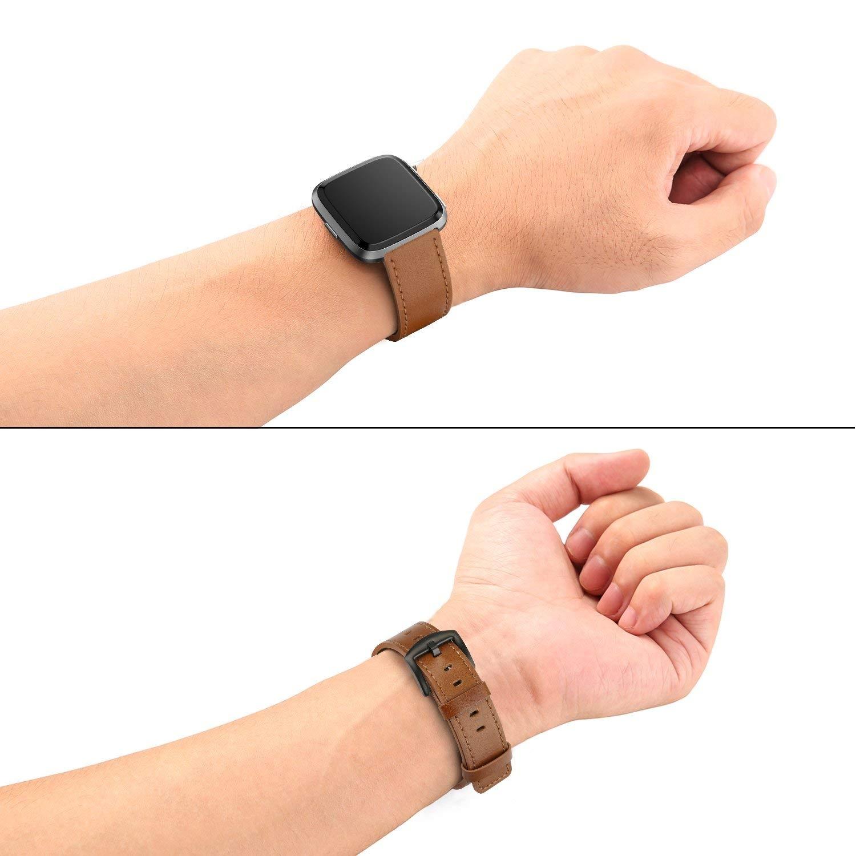 Swees Fitbit Versa Deri Kayış (Large)