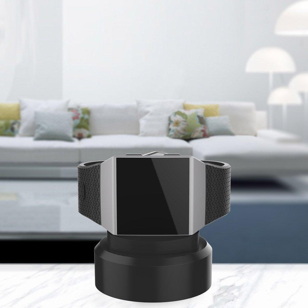 UMTELE Fitbit Ionic Silikon Şarj Standı-Black