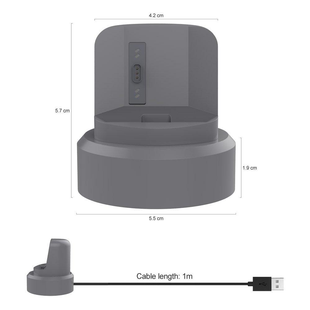 UMTELE Fitbit Ionic Silikon Şarj Standı-Gray
