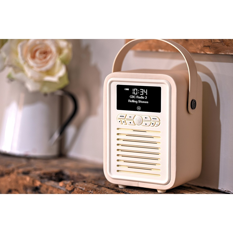 VQ MINI Home Audio Bluetooth Radyo-Cream