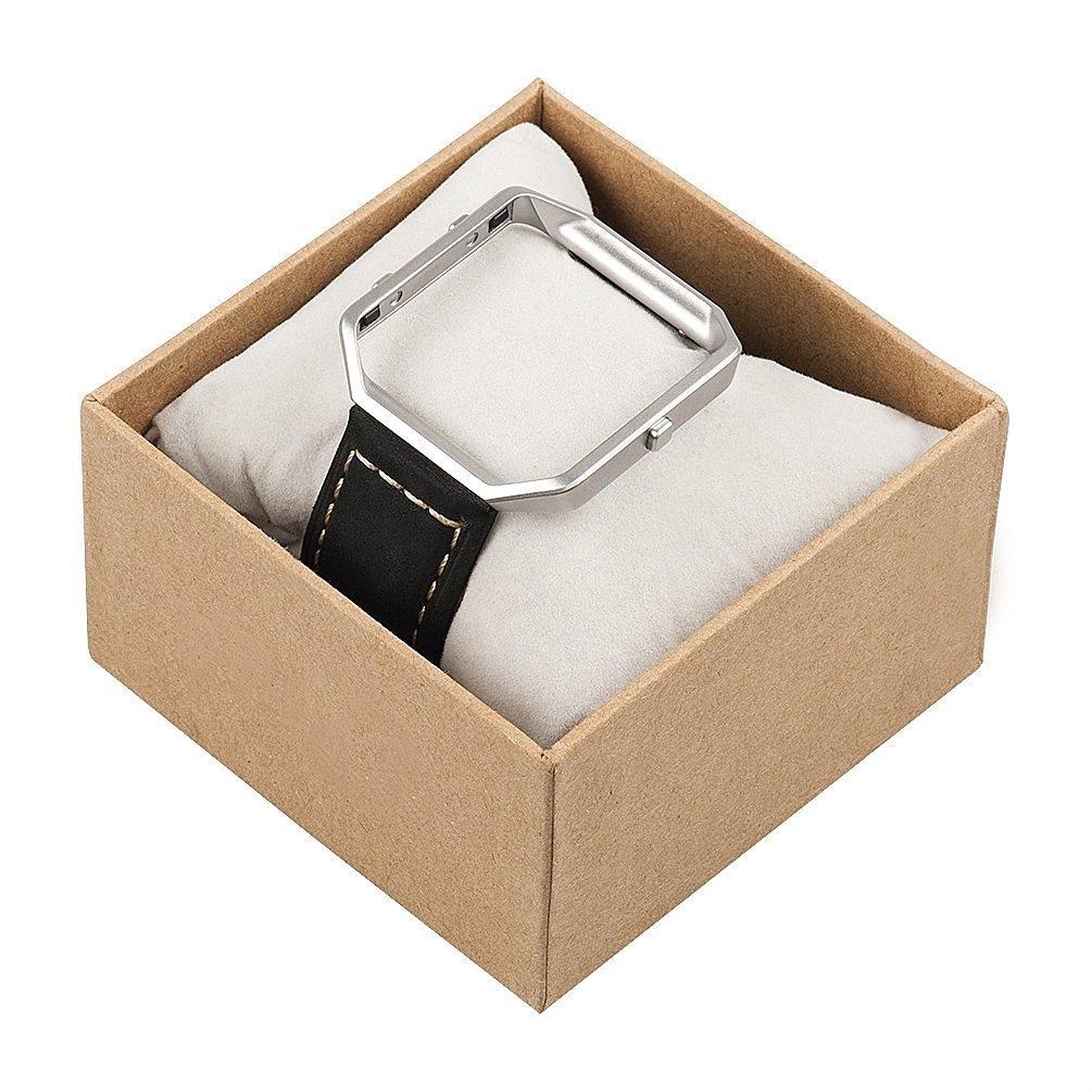 Wearlizer Fitbit Blaze Vintage Deri Kayış (Large)