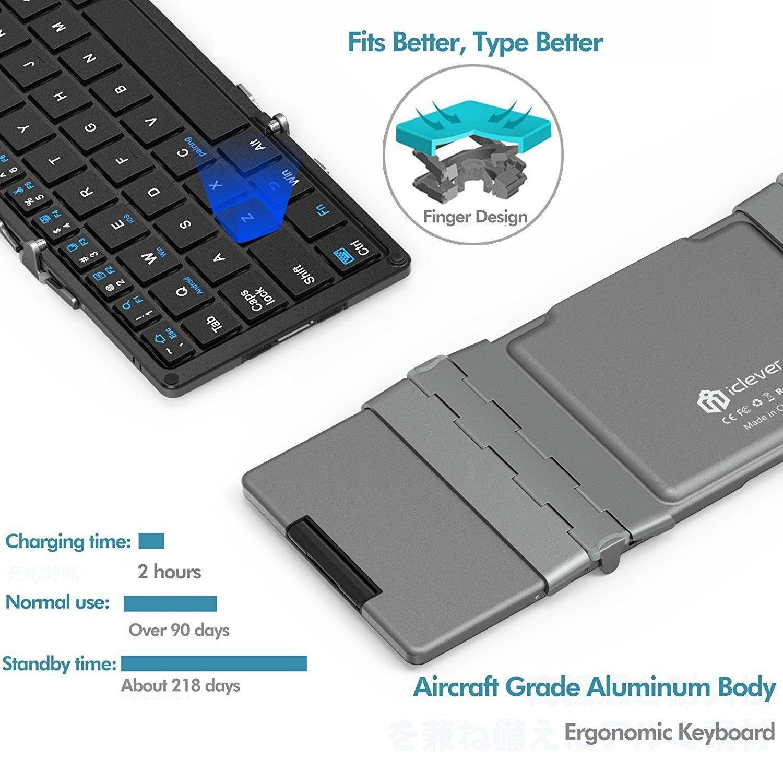 iClever Katlanabilir Touchpad Bluetooth Klavye