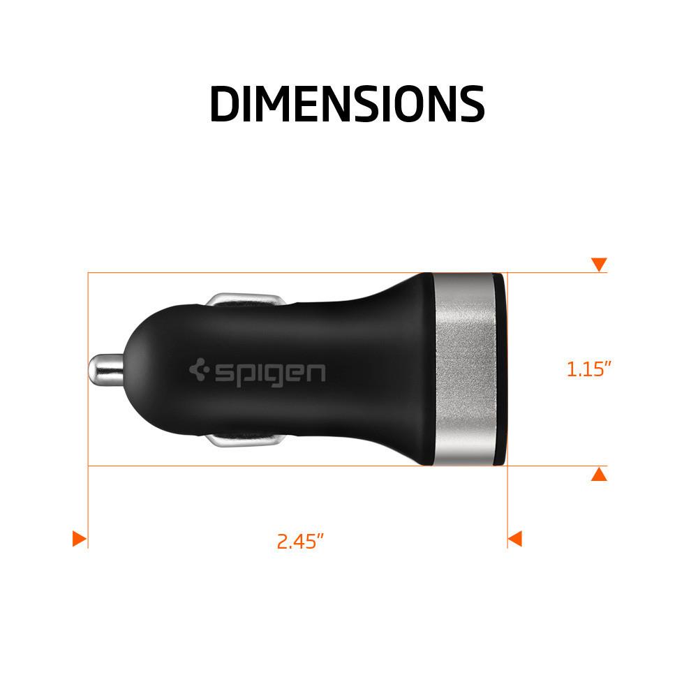 new products b6348 ed65d Spigen 4.8 Amp Çift Bağlantılı USB Araç Şarjı F24QC - SGP11749