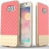 Caseology Galaxy S6 Riot Serisi Premium Deri Kılıf (Pembe)