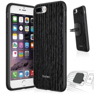 Evutec iPhone 7 Plus AER Ahşap Desen Kılıf (Araç İçin Tutucu Dahildir)