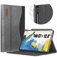 Infiland Galaxy Tab S7 Plus Business Standlı Kılıf (12.4 inç)