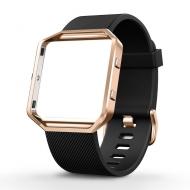 UMTELE Fitbit Blaze Çerçeveli Yumuşak Silikon Kayış (Küçük)