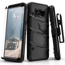 Zizo Samsung Galaxy S8 Plus Bolt Serisi Kemer Klipsli Kılıf ve Temperli Cam Ekran Koruyucu (MIL-STD-810G)