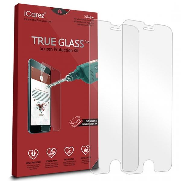 iCarez iPhone 7 Plus Temperli Cam Ekran Koruyucu (2 Adet)