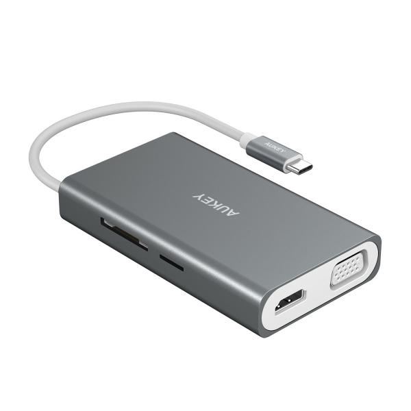 AUKEY USB C Çoklu Hub Adaptör (Space Gray)
