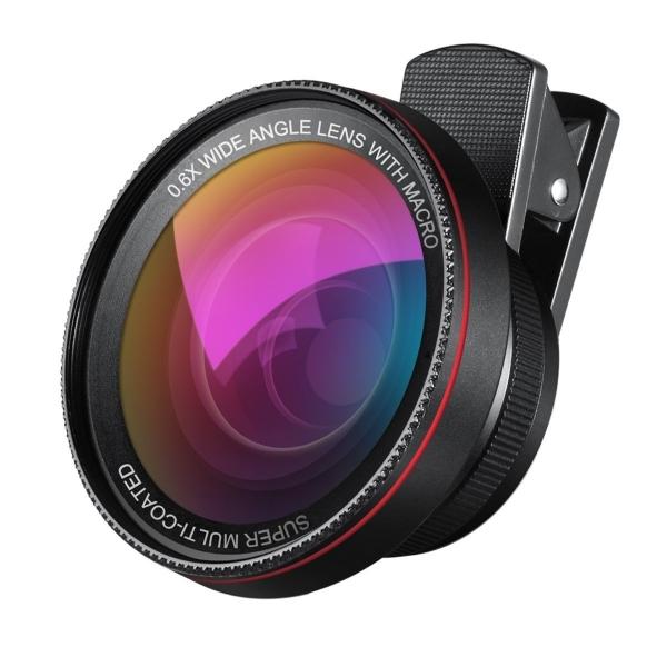 Amir 2'si 1 arada Profesyonel HD Akıllı Telefon Makro Lensi