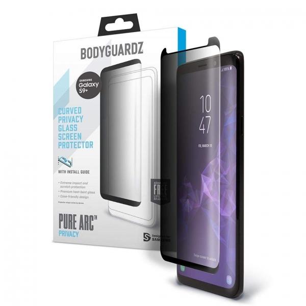 BodyGuardz Galaxy S9 Plus Pure Arc Privacy Cam Ekran Koruyucu