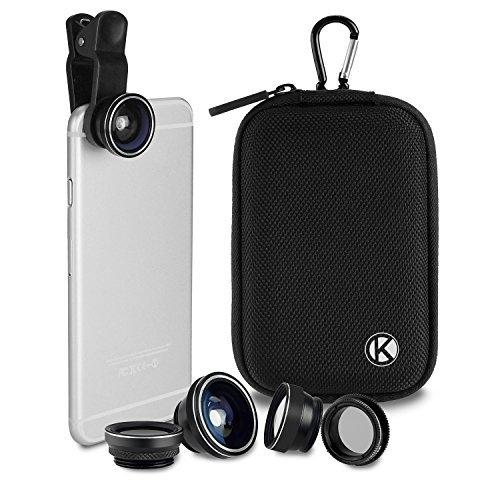 CamKix Deluxe Evrensel 5'i 1 Arada Kamera Lens Seti