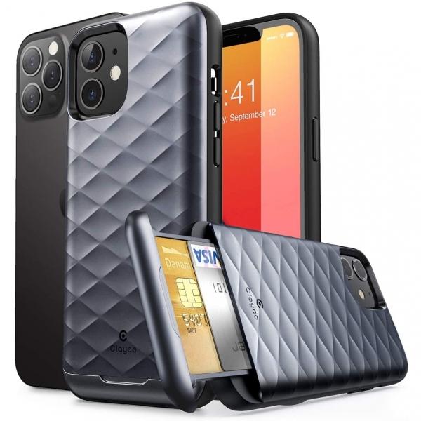 Clayco iPhone 12 Argos Serisi Cüzdan Kılıf