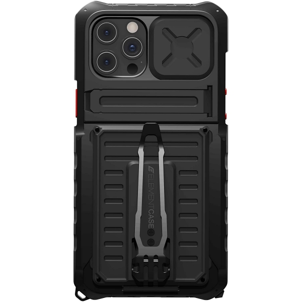Element Case iPhone 12 Pro Max Black OPS Elite Serisi Kılıf (MIL-STD-810)