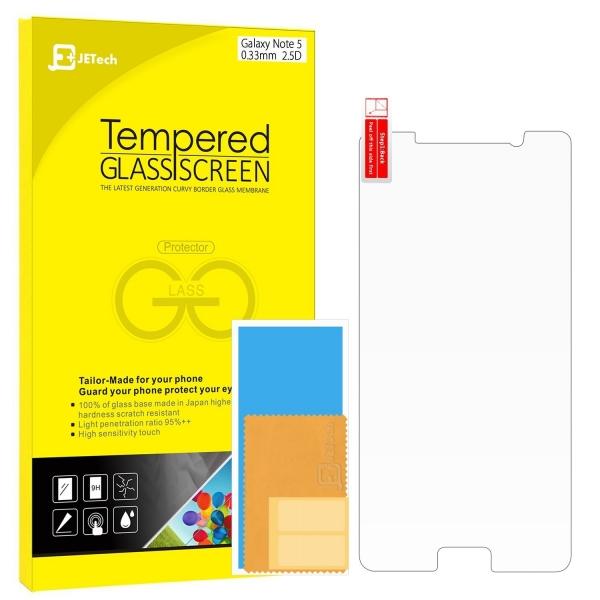 JETech Samsung Galaxy Note 5 Temperli Cam Ekran Koruyucu