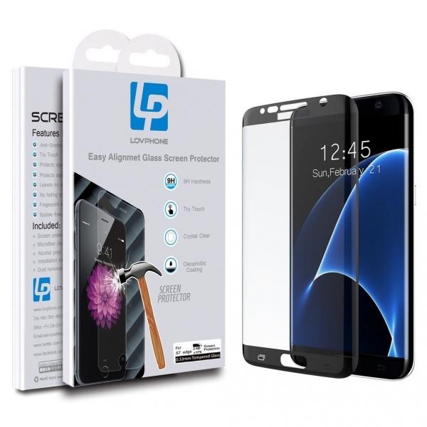 LOVPHONE Samsung Galaxy S7 Edge Temperli Cam Ekran Koruyucu