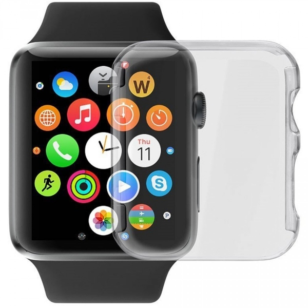 LUVVITT Apple Watch Şeffaf Kılıf (38 mm)