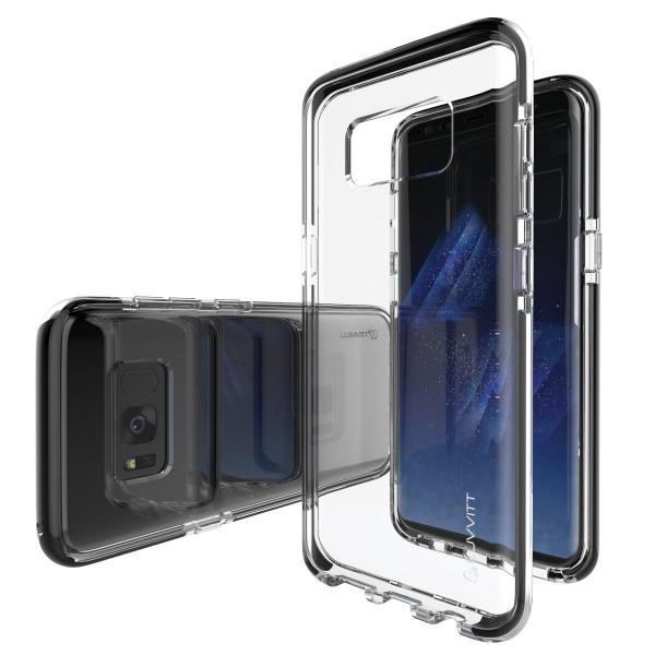 LUVVITT Galaxy S8 Plus Bumper Şeffaf / Siyah Kılıf (MIL-STD-810G)