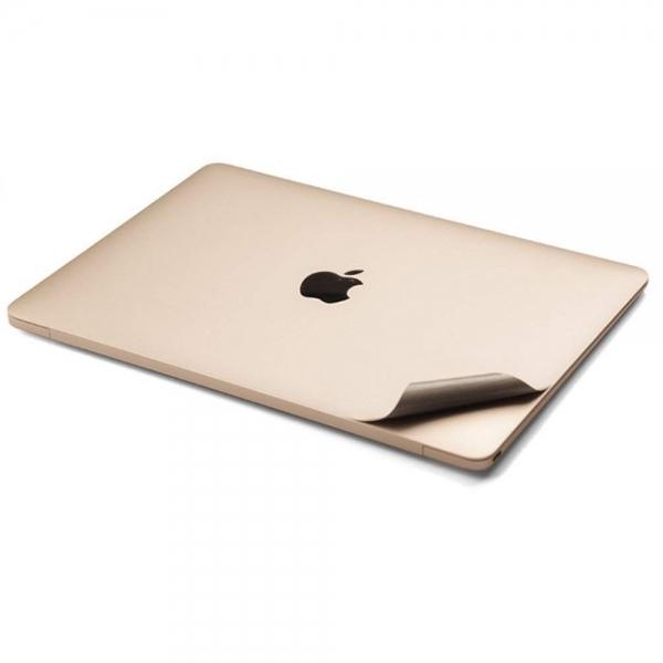 Leze MacBook Air Tam Koruma Çıkartması (13-13.3inç)(Gold)