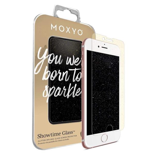 MOXYO iPhone 8 Showtime Simli Cam Ekran Koruyucu (Gold)