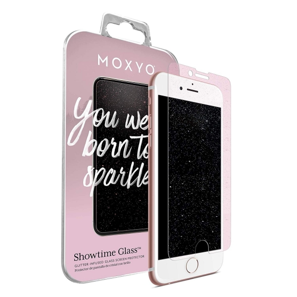 MOXYO iPhone 8 Plus Showtime Simli Cam Ekran Koruyucu (Pink)
