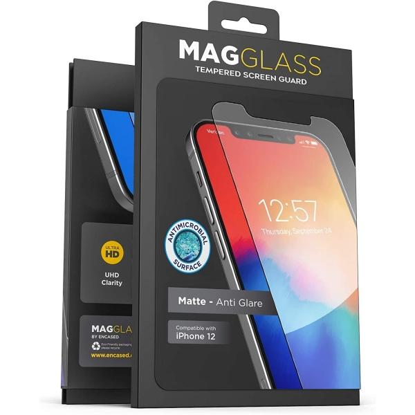 Magglass iPhone 12/ iPhone 12 Pro Mat Temperli Cam Ekran Koruyucu