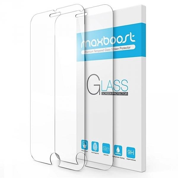 Maxboost iPhone 7 Plus Temperli Cam Ekran Koruyucu (2 Adet)