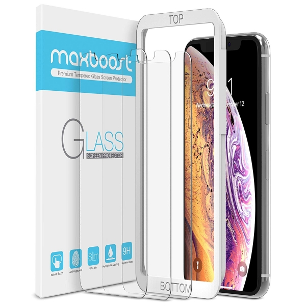 Maxboost iPhone XS Max Temperli Cam Ekran Koruyucu(3 Adet)