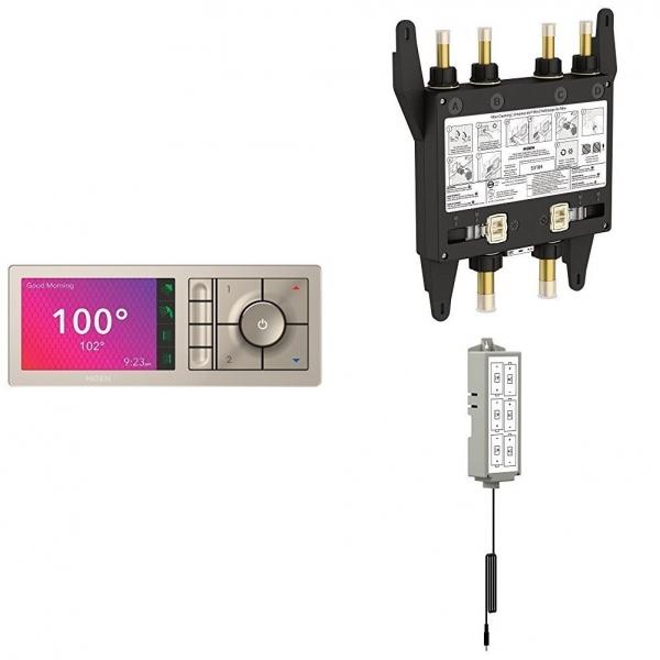 Moen U Shower Akıllı Duş Kontrol Cihazı (4 Çıkışlı Dijital Valf ve Batarya Dahildir)