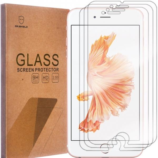 Mr Shield iPhone 6 Plus / 6S Plus Temperli Cam Ekran Koruyucu (3 Adet)