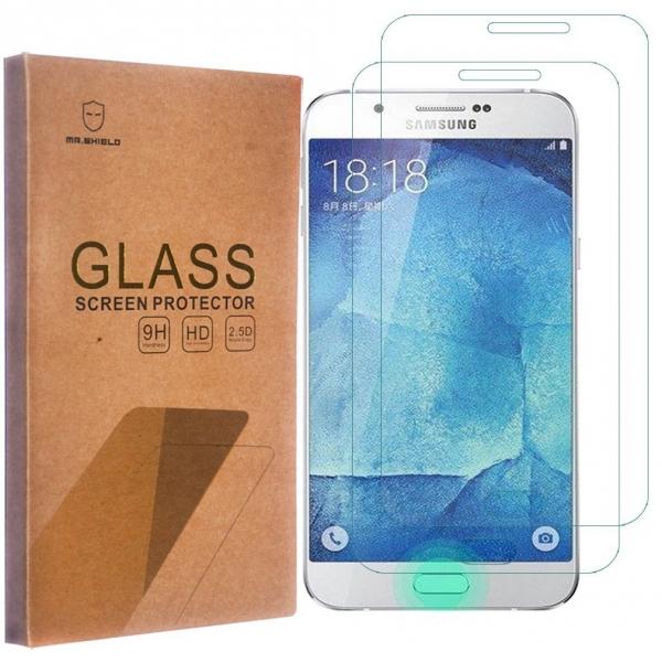 Mr Shield Samsung Galaxy A8 Temperli Cam Ekran Koruyucu (2 Adet)