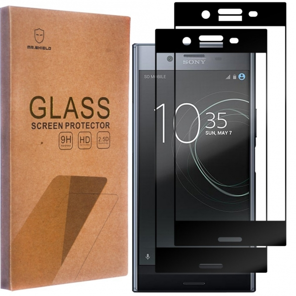 Mr Shield Sony Xperia XZ Siyah Temperli Cam Ekran Koruyucu (2 Adet)