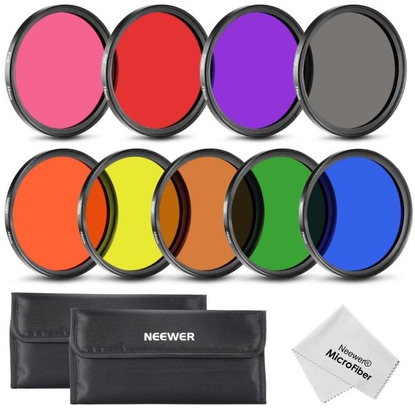 Neewer 58mm Renkli Lens Filtresi (9 Adet)