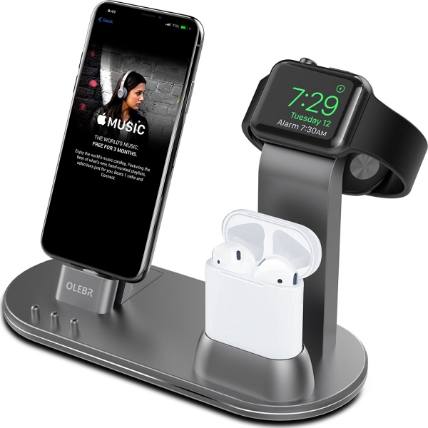OLEBR Apple Watch/AirPods/iPhone Şarj Standı