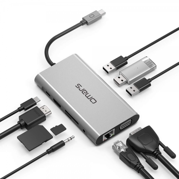 OMARS USB C Hub / PD Şarj Portu