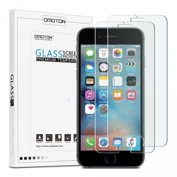 OMOTON Apple iPhone 6 / 6S Temperli Cam Ekran Koruyucu (2 Adet)