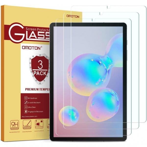 OMOTON Galaxy Tab S6 Temperli Cam Ekran Koruyucu (3 Adet) (10.5 inç)