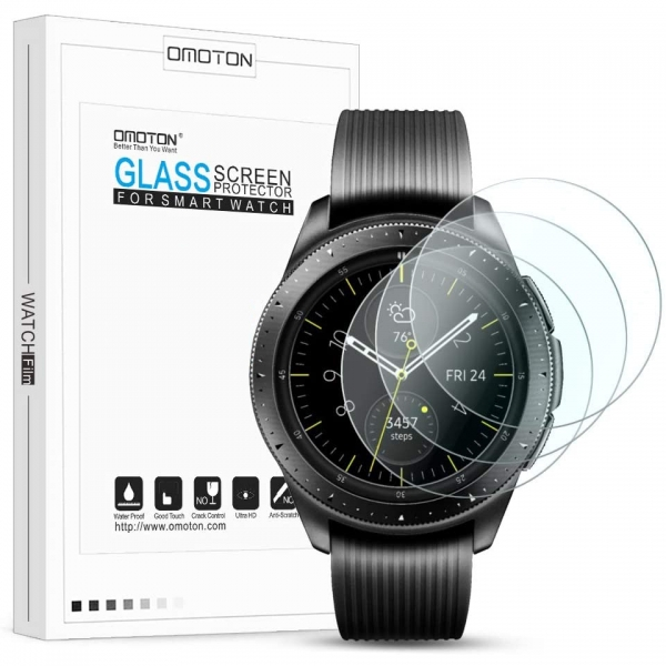 OMOTON Samsung Gear S2 Temperli Cam Ekran Koruyucu (3 Adet)