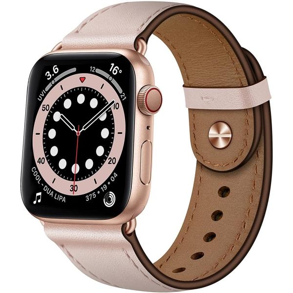 OUHENG Apple Watch 7 Deri Kayış (41mm)