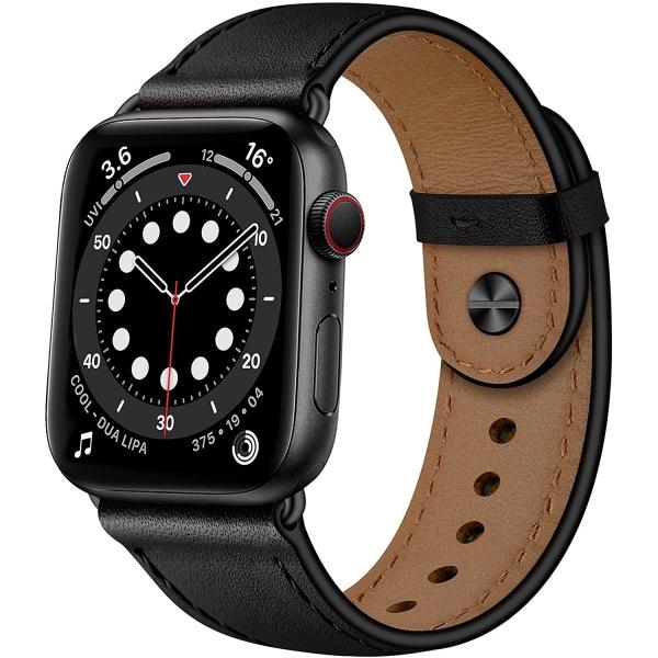 OUHENG Apple Watch 7 Deri Kayış (45mm)