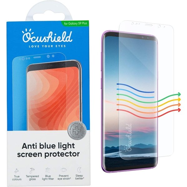 Ocushield Galaxy S9 Plus Anti Mavi Işık Temperli Cam Ekran Koruyucu