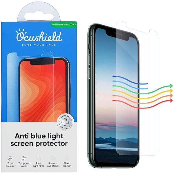 Ocushield iPhone 11 Pro Anti Mavi Işık Temperli Cam Ekran Koruyucu