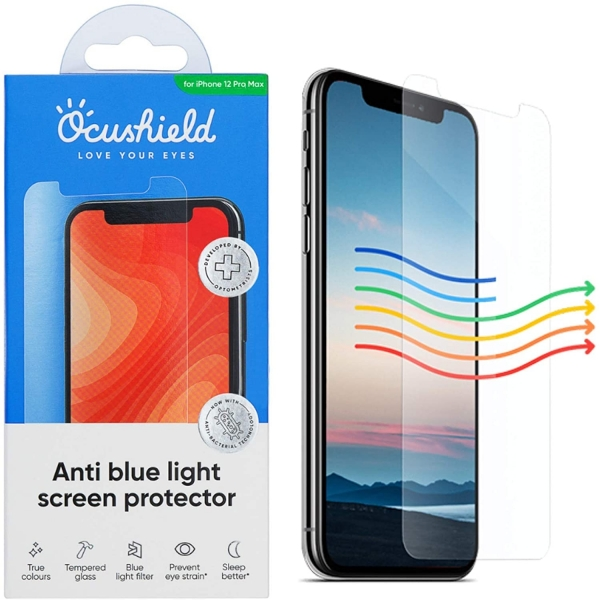 Ocushield iPhone 12 Mini Anti Mavi Işık Temperli Cam Ekran Koruyucu