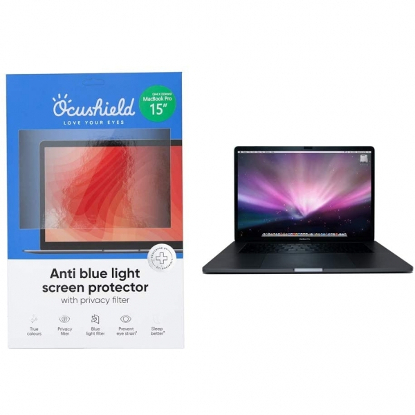 Ocushield MacBook Pro Anti Mavi Işık Temperli Cam Ekran Koruyucu (15 inç)