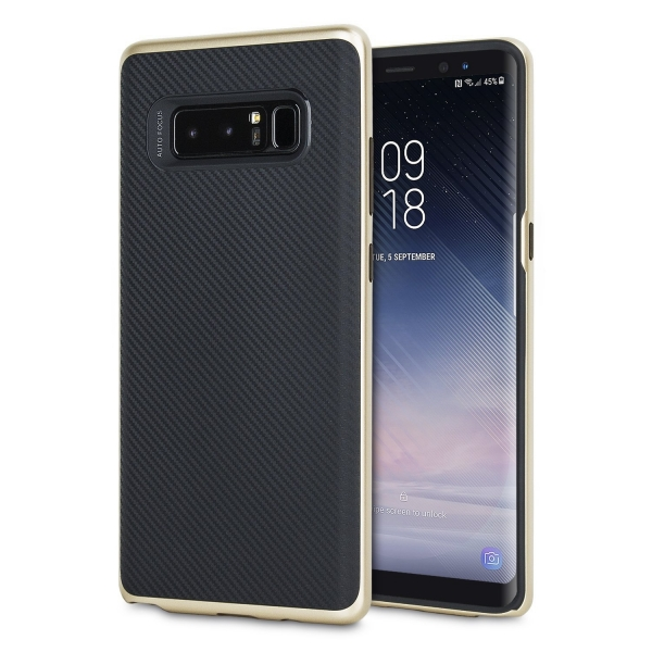 Olixar Galaxy Note 8 Karbon Fiber Dizayn Bumper Kılıf