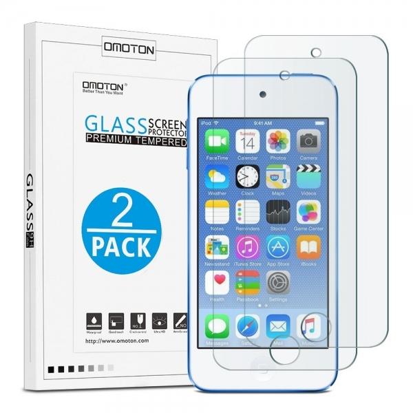 Omoton iPod Touch Temperli Cam Ekran Koruyucu (6.Nesil / 2 Adet)