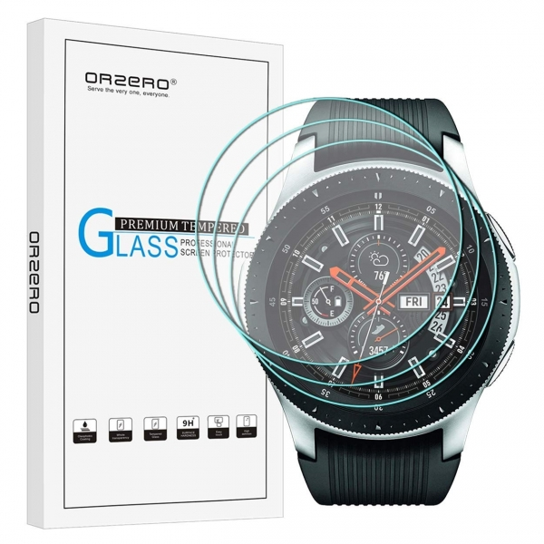 Orzero Galaxy Watch Temperli Cam Ekran Koruyucu (46mm) (3 Adet)